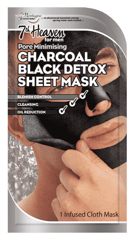 Men's Charcoal Black Detox Sheet Mask