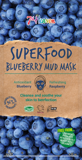 Superfood Blueberry Mud Mask 7th Heaven Montagne Jeunesse